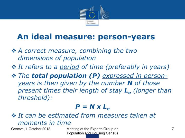 An ideal measure: person-years
