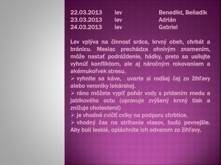 22.03.2013levBenedikt, Beňadik