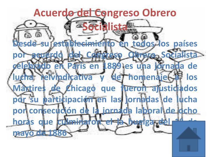 Acuerdo del Congreso Obrero Socialista