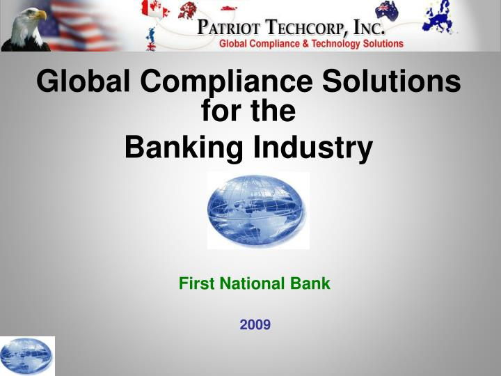 Global Compliance Solutions for the