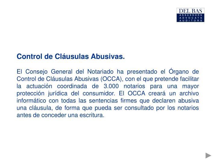 Control de Cláusulas Abusivas.
