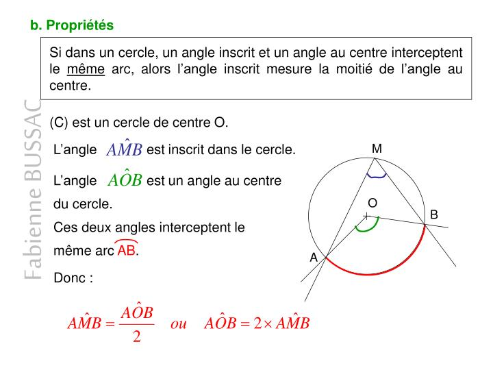 Angles inscrits polygones reguliers