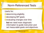 norm referenced tests