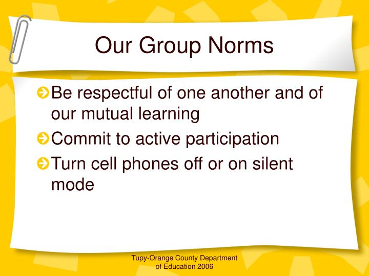 Our Group Norms
