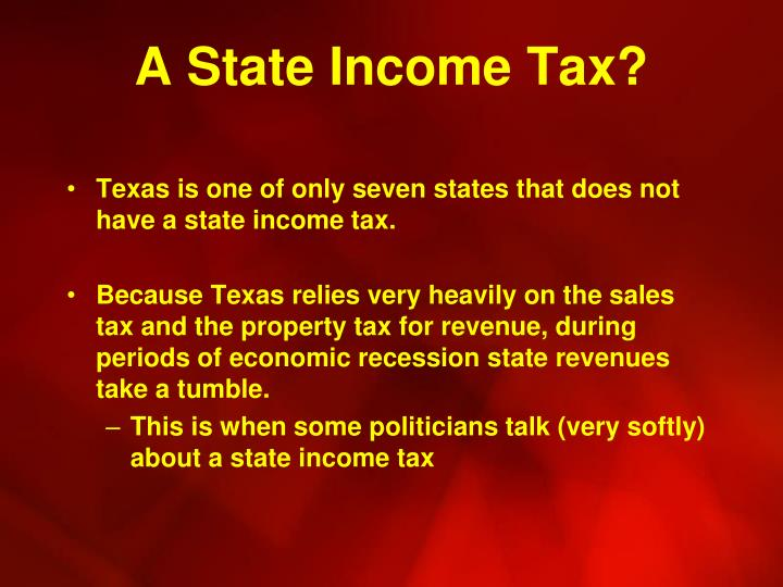 A State Income Tax?