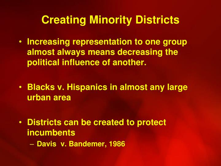 Creating Minority Districts
