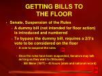 getting bills to the floor1