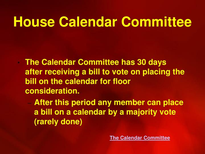 House Calendar Committee