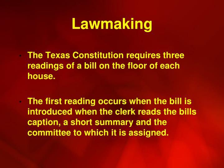 Lawmaking