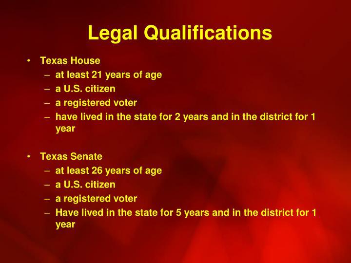 Legal Qualifications