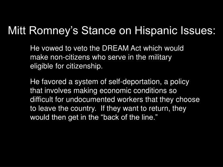 Mitt Romney's Stance on Hispanic Issues:
