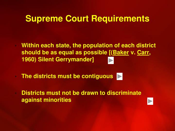 Supreme Court Requirements
