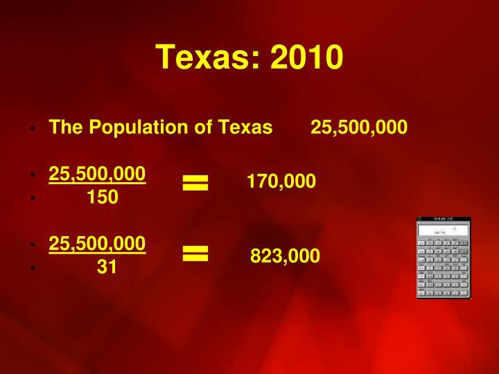 Texas: 2010