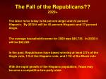 the fall of the republicans 2020