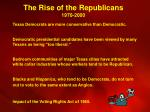 the rise of the republicans 1970 2000