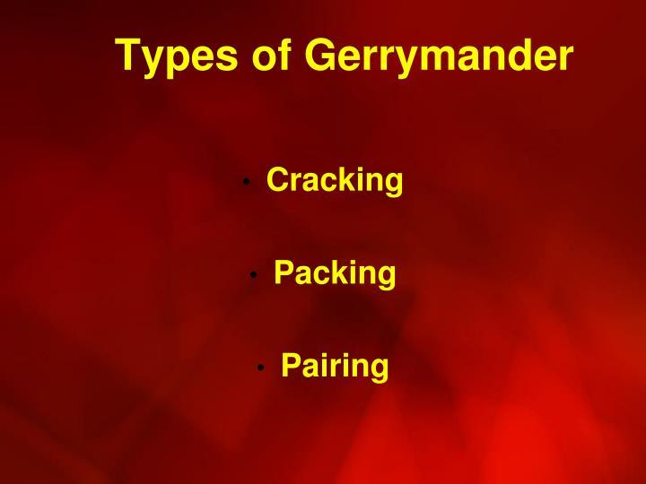 Types of Gerrymander