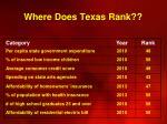 where does texas rank