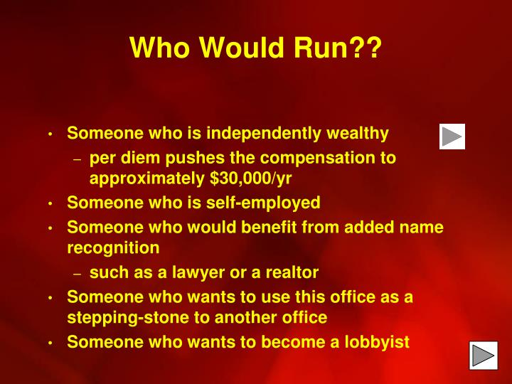 Who Would Run??
