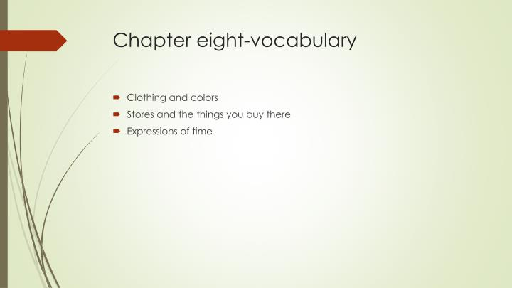 Chapter eight-vocabulary