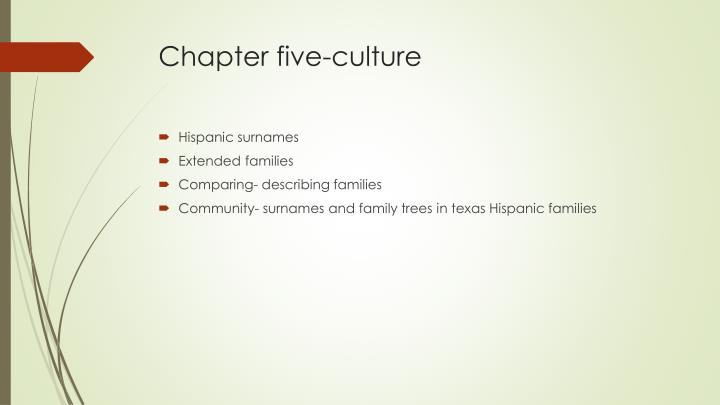 Chapter five-culture