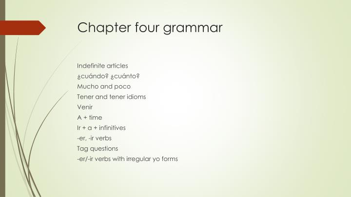 Chapter four grammar