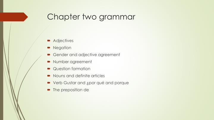 Chapter two grammar