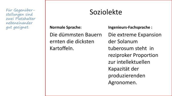 Soziolekte