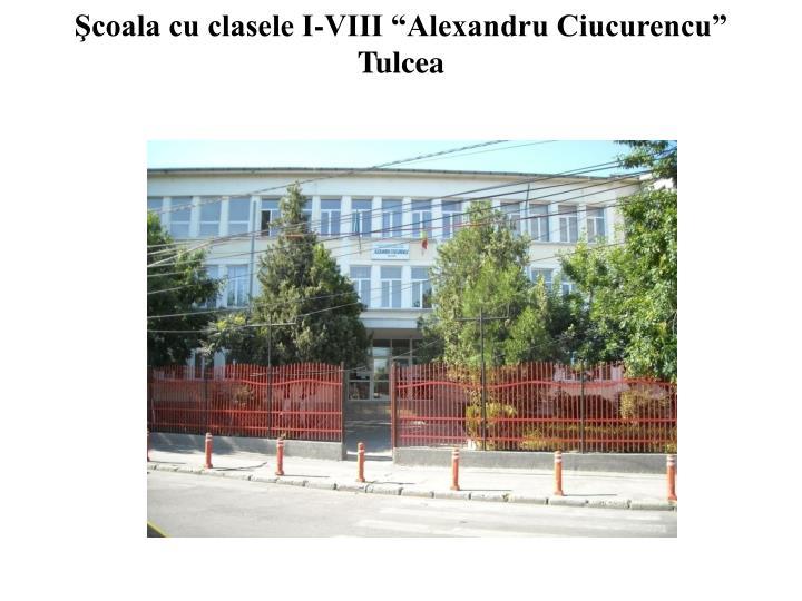 """Şcoala cu clasele I-VIII """"Alexandru Ciucurencu"""" Tulcea"""