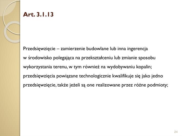 Art. 3.1.13