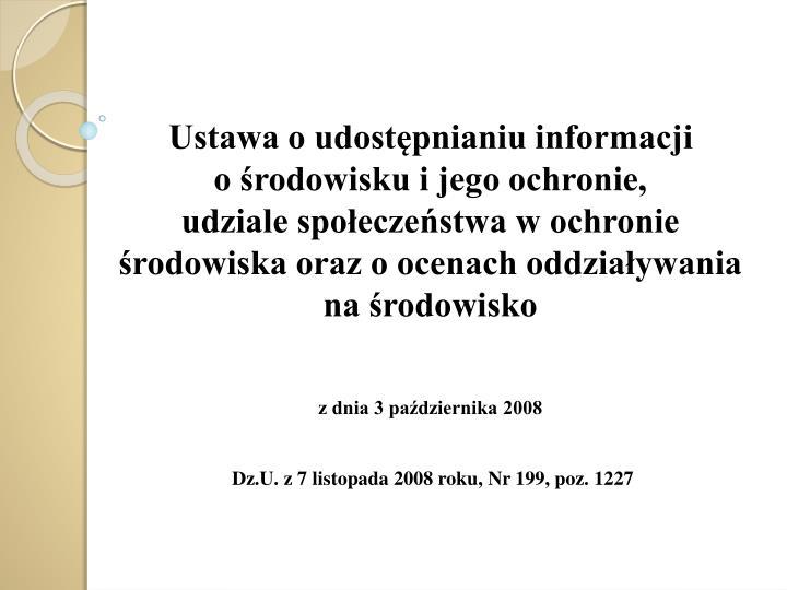 Ustawa o udostępnianiu informacji