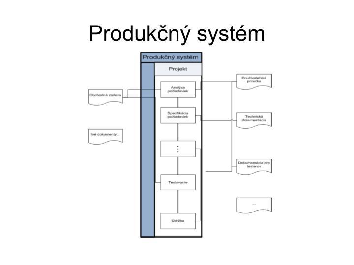Produkčný systém