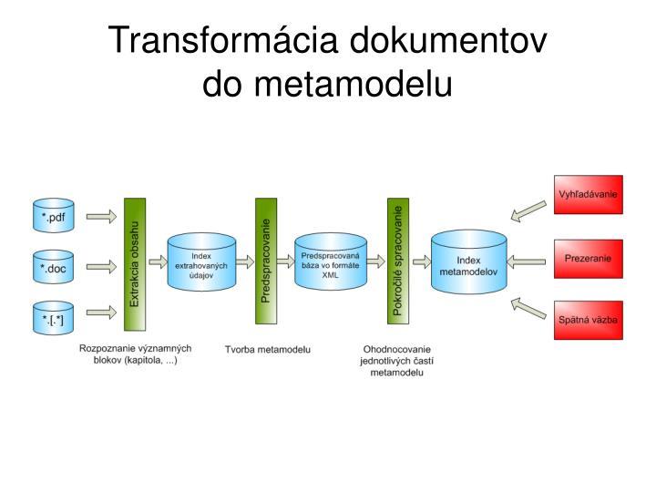 Transformácia dokumentov