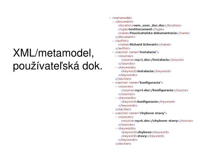 XML/metamodel