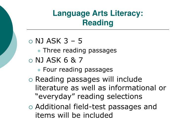 Language Arts Literacy:
