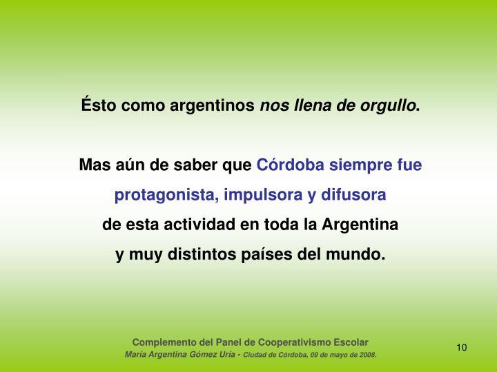 Ésto como argentinos