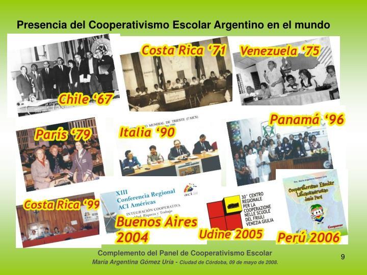 Presencia del Cooperativismo Escolar Argentino en el mundo