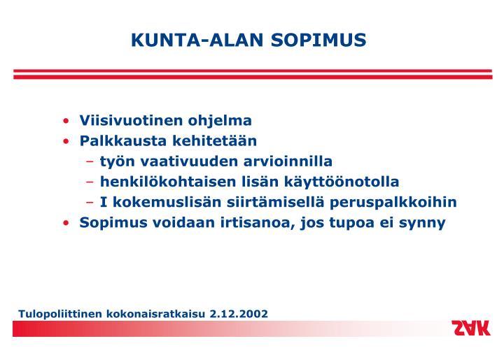 KUNTA-ALAN SOPIMUS