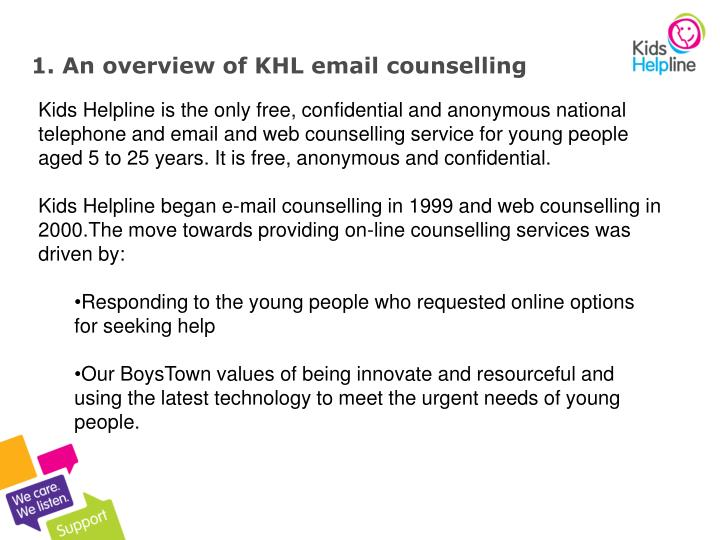 1 an overview of khl email counselling