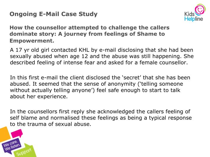 Ongoing E-Mail Case Study