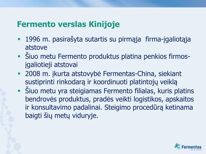Fermento verslas Kinijoje