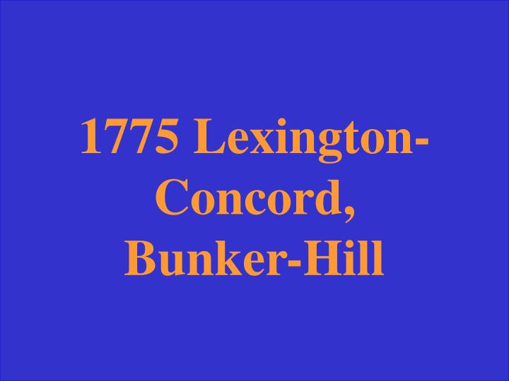 Lexington Concord, 1775