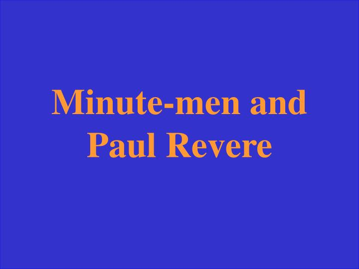 Minute-men