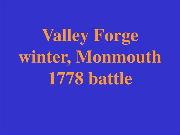 Monmouth, 1778 vforg
