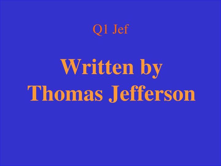 Q1 Jef