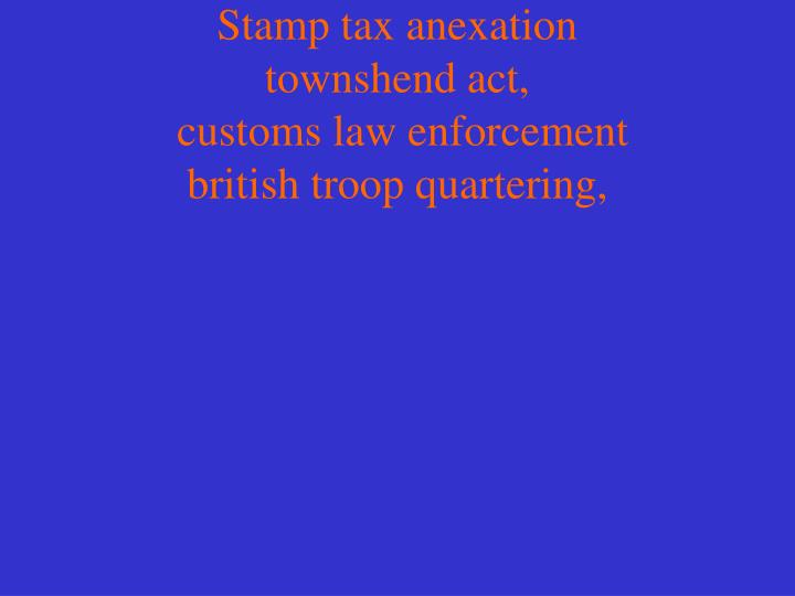 Stamp tax anexation