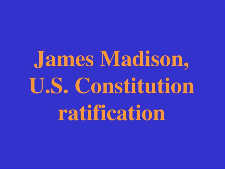 Us const James madison