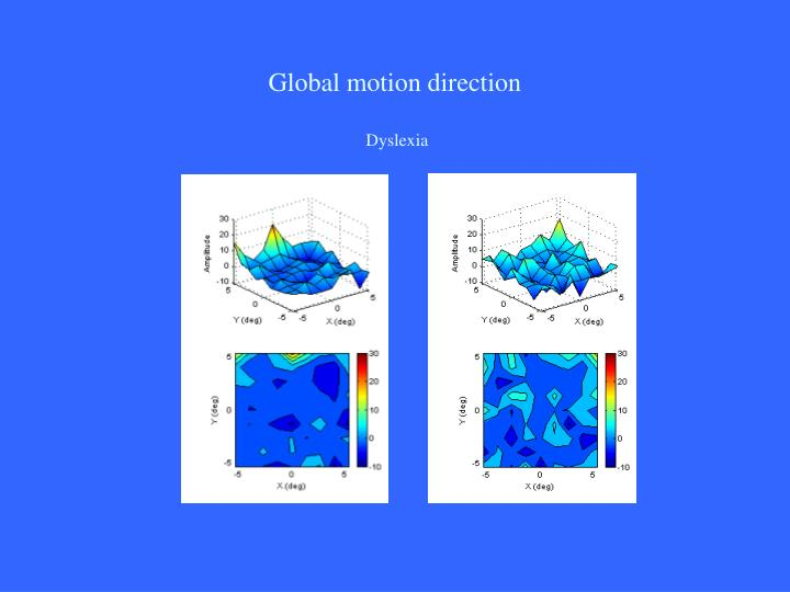Global motion direction