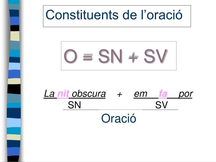 O = SN + SV