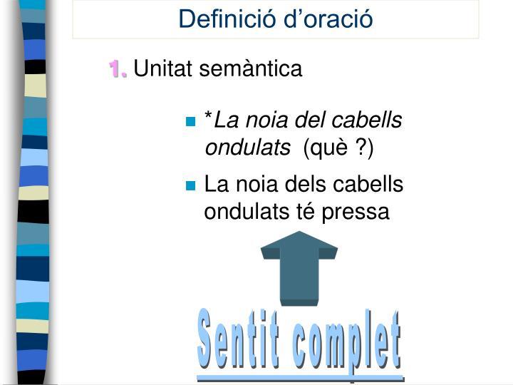 Definició d'oració