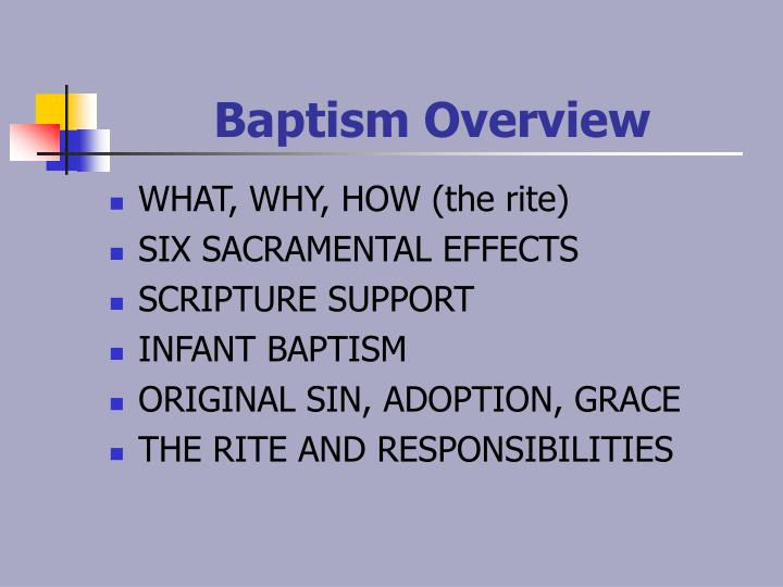Baptism overview